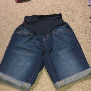 Women's old navy maternity midi jean shorts